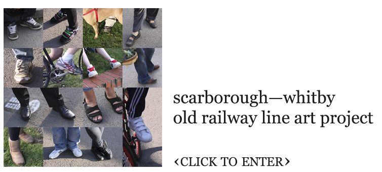 scarborough-whitby old railway line art project. click to enter